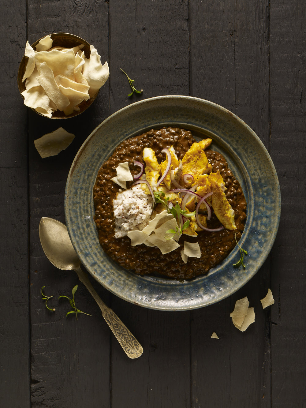 Modern Indian dahl for Knorr, Food styling by Nico Ghirlando