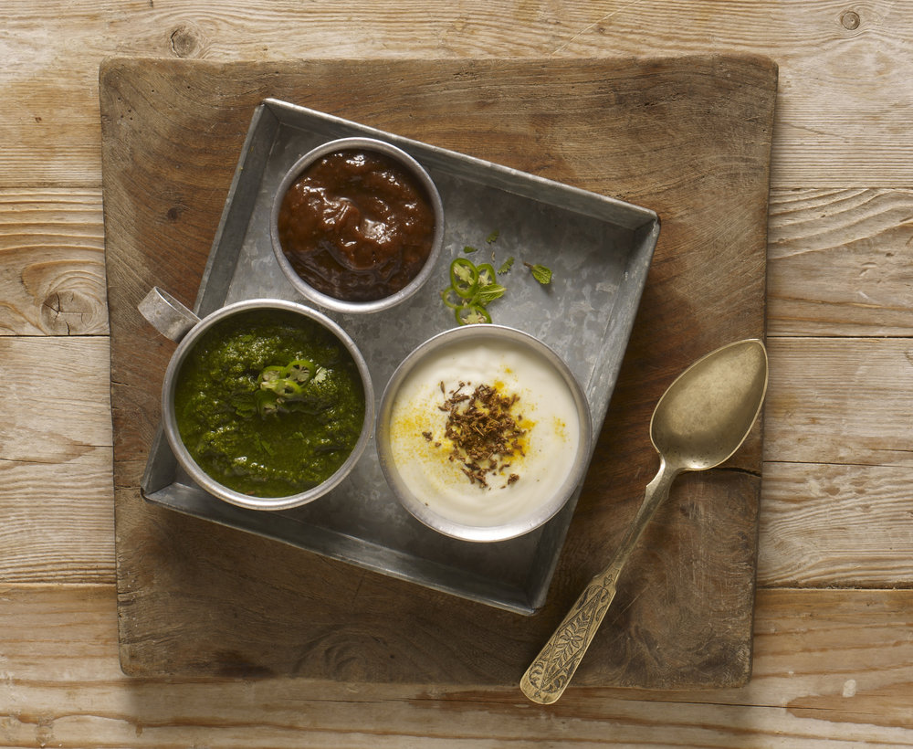 Modern Indian sauces for Knorr, Food styling by Nico Ghirlando