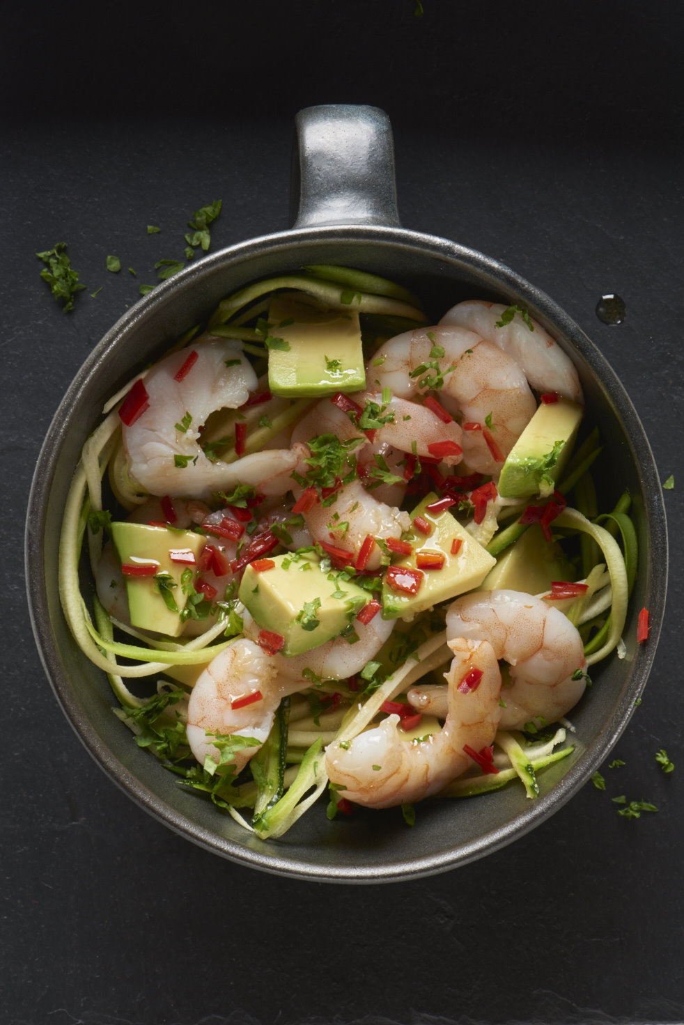 Thai-style prawn and avocado salad