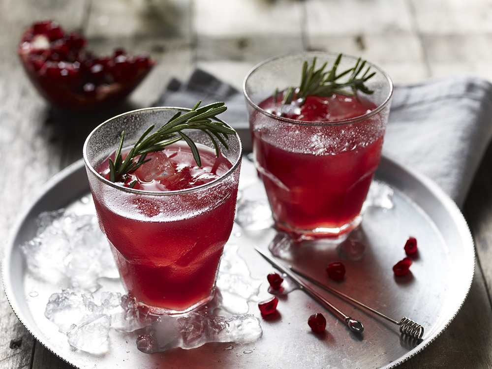 Edgerton's Gin and pomegranate cocktail