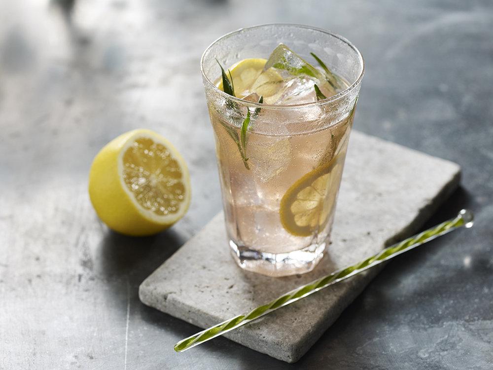 Edgerton's pink gin and tonic