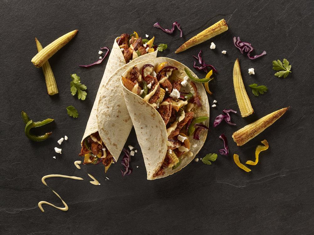 "Old El Paso ""Street Market"" honey and chili chicken Fajita for Ocean Branding. Food styling by Nico Ghirlando"