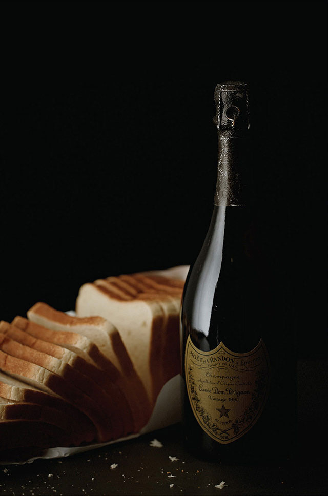 Axl Rose: Fresh Wonder Bread (white), Dom Perignon.