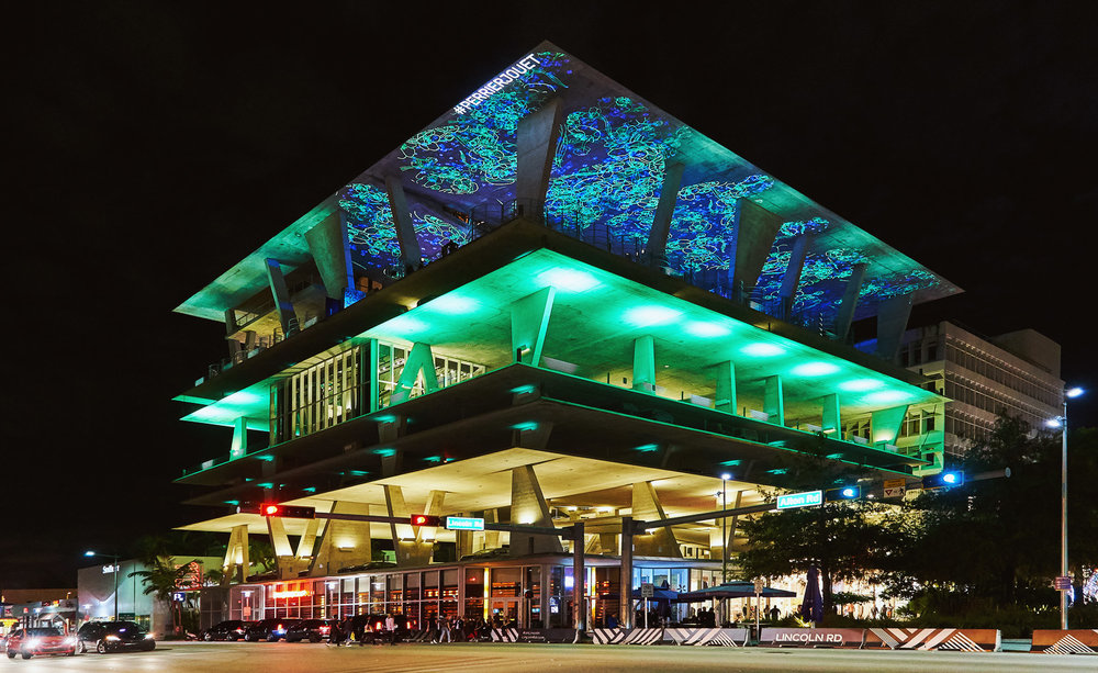 The Herzog & de Meuron-designed 1111 Lincoln Road carpark served as a dramatic backdrop for Eden by Perrier-Jouët – the vibrant crescendo of the brand's creative partnership with Luftwerk this year.
