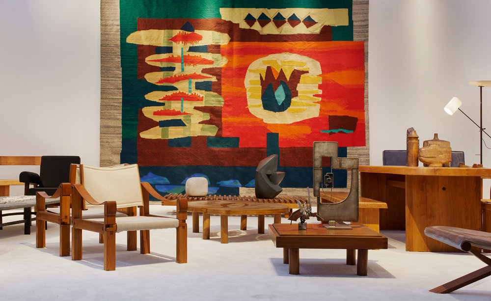 Magen H gallery hosted a retrospective of works by the late French designer Pierre Chapo – an eye-catching Max Truninger tapestry and Aglae Liberaki sculptures complemented the his designs.