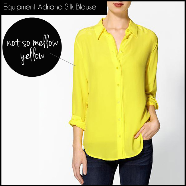 1 Adriana Shirt in Blazing Yellow