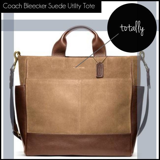 1 Coach Bleecker Suede Utility Tote