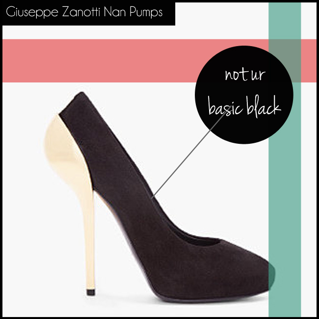 shop the GIUSEPPE ZANOTTI Black Suede Nan Pumps