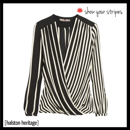 1 Halston Heritage Striped silk-georgette top edited