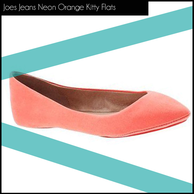 1  Joes Jeans Neon Orange Kitty Flats