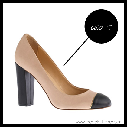 shop the J. Crew Etta Cap Toe Pumps