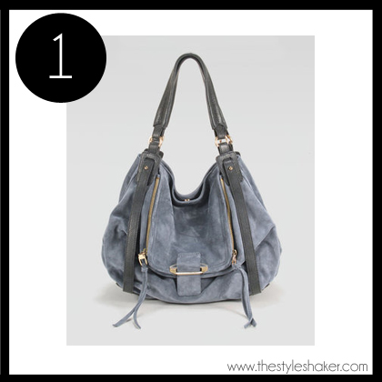 1 Kooba Jonnie Suede Leather Hobo Bag
