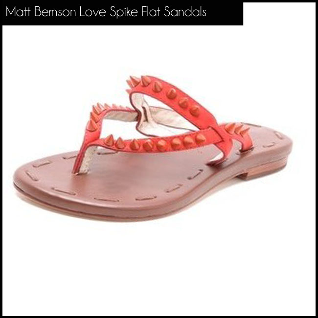 1 Matt bernson Love Spike Flat Sandals