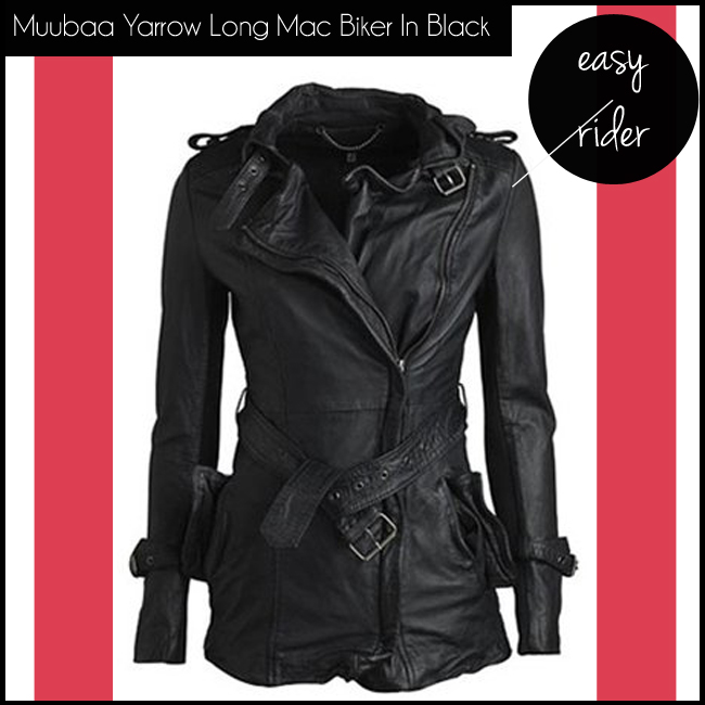 1 Muubaa Yarrow Long Mac Biker In Black