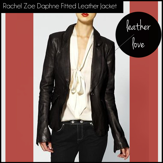 1 Rachel Zoe Daphne Fitted Leather Jacket