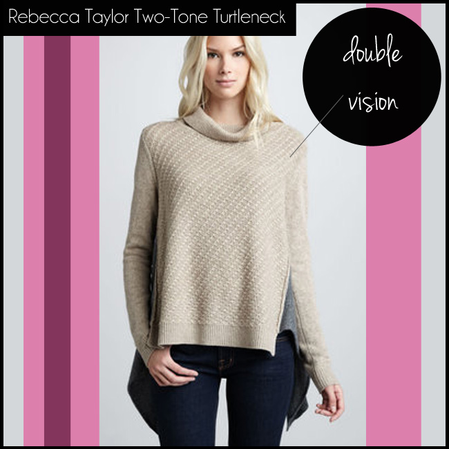 1 Rebecca Taylor Two-Tone Turtleneck