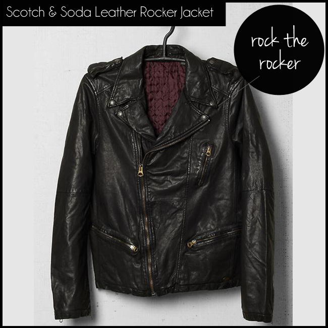 1 Scotch & Soda Leather Rocker Jacket