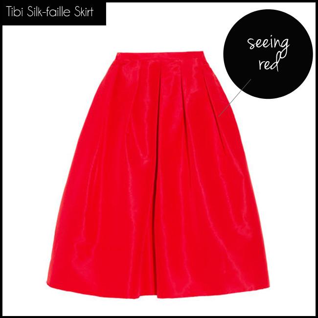 1 Tibi Silk-faille Skirt