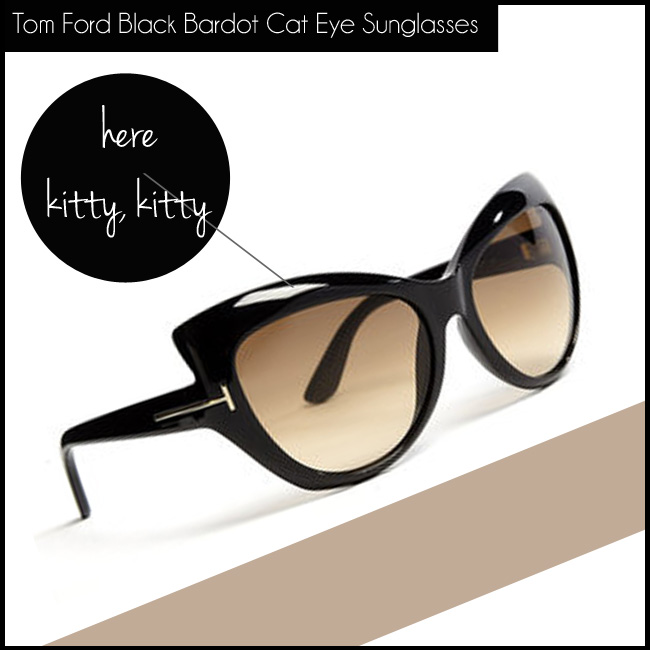 1 Tom Ford Black Bardot Cat Eye Acetate Sunglasses