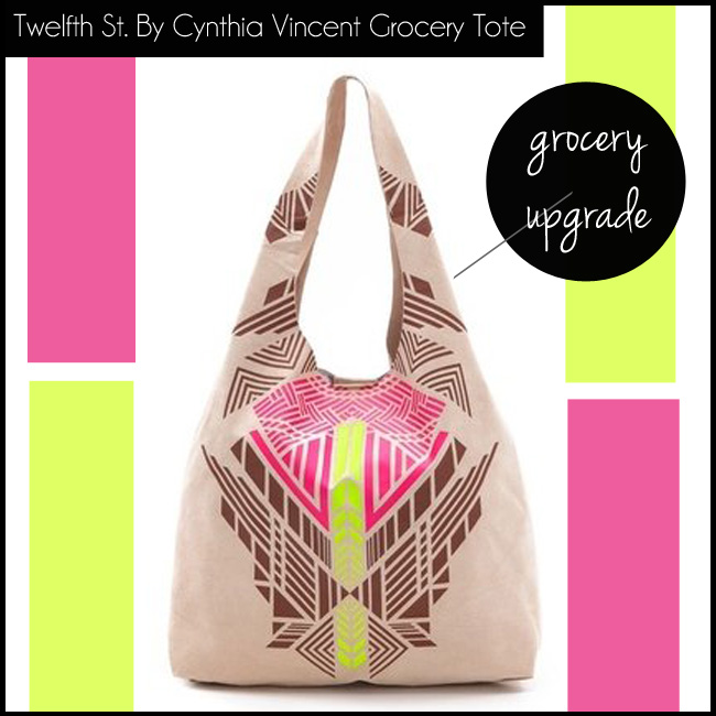 1 Twelfth St. By Cynthia Vincent Leather Grocery Tote