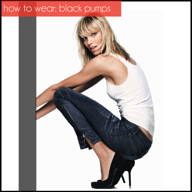 how to wear black pumps