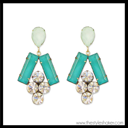 shop the Loren Hope Petra Earrings in Teal Mint
