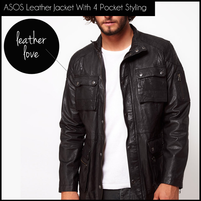 2 ASOS Leather Jacket With 4 Pocket Styling