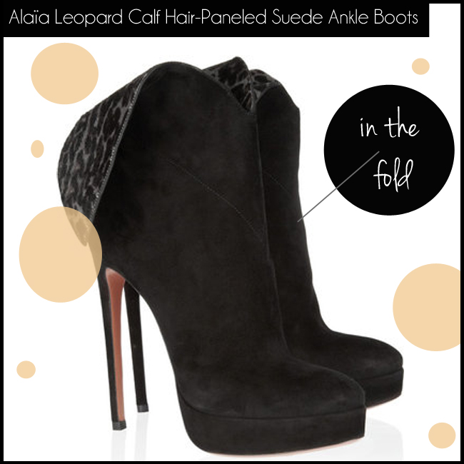 2 Alaïa Leopard Calf Hair-Paneled Suede Ankle Boots