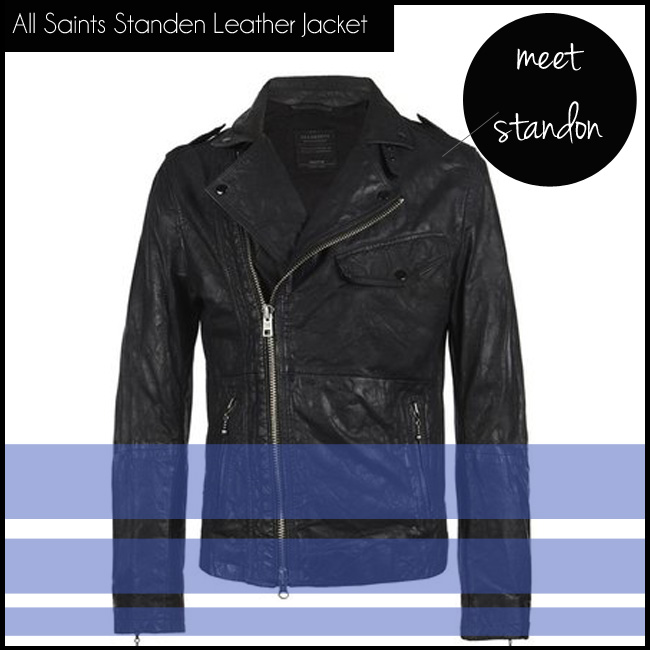 2 All Saints Standen Leather Jacket