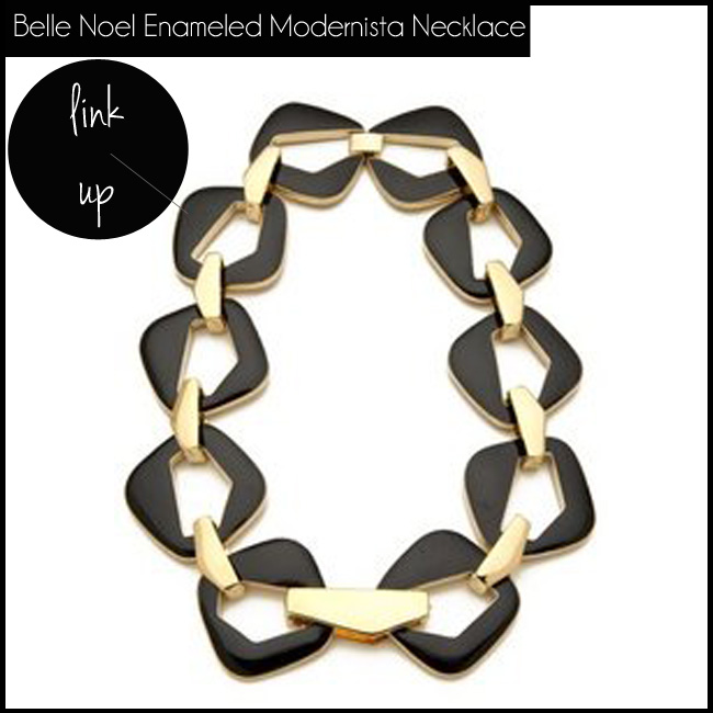 2 Belle Noel Enameled Modernista Necklace
