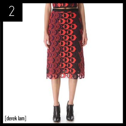 2 Derek Lam A-Line Skirt