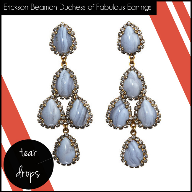 2 Erickson Beamon Crystal Duchess of Fabulous Chandelier Earrings