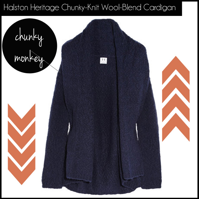 2 Halston Heritage Chunky-Knit Wool-Blend Cardigan