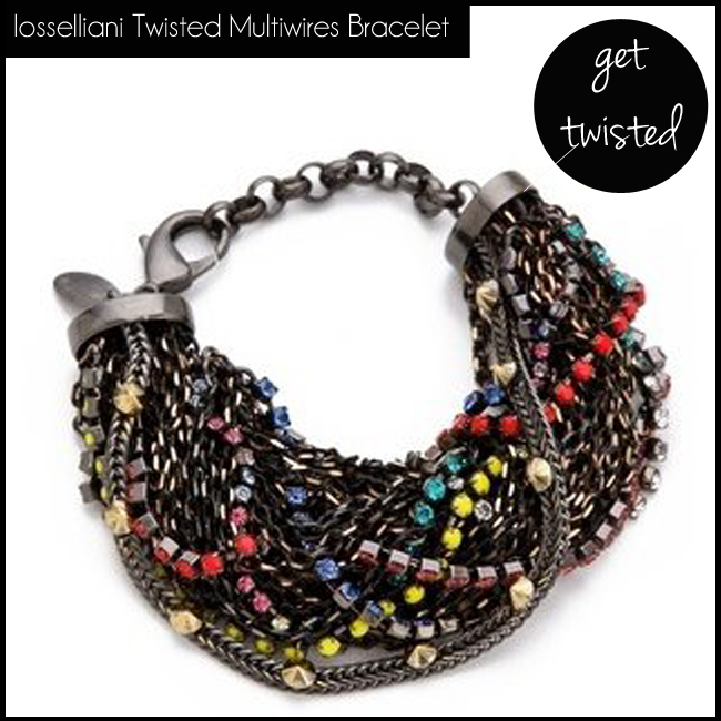 2 Iosselliani Twisted Multiwires Bracelet