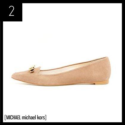 2 MICHAEL Michael Kors Vivienne Pointed-Toe Suede Flat