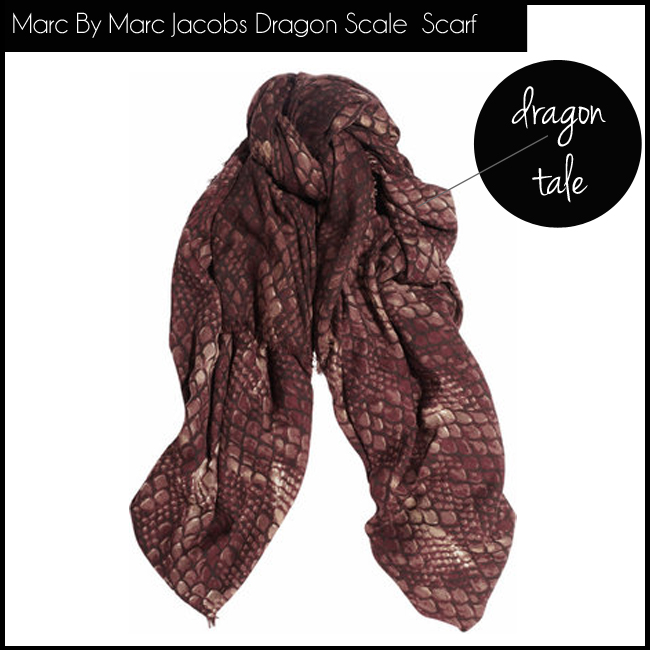 2 Marc By Marc Jacobs Dragon Scale Printed Wool Scarf