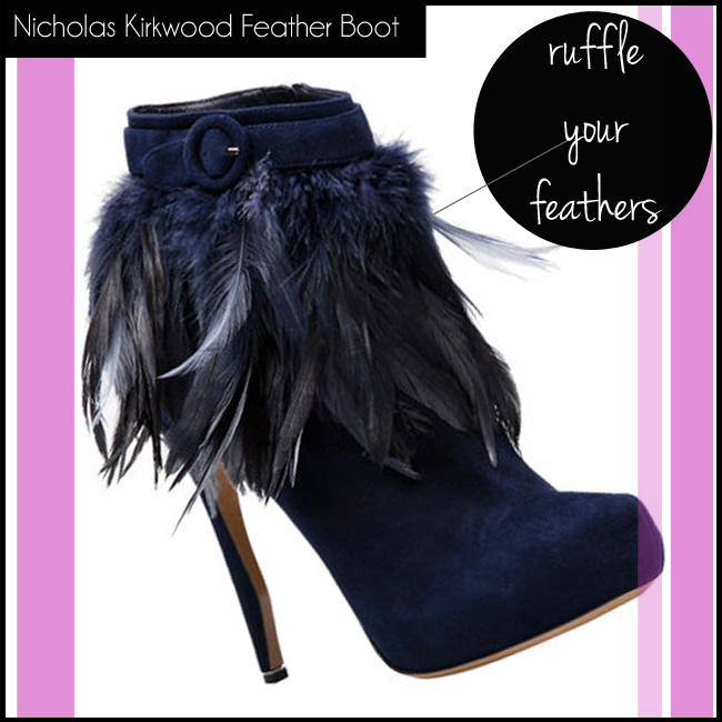 2 Nicholas Kirkwood Feather Boot Navy Suede
