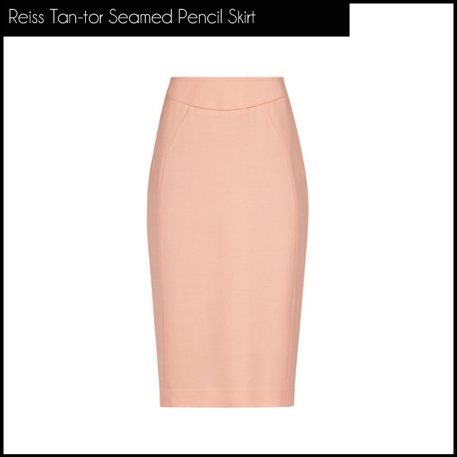 2 Reiss Tan-tor Seamed Pencil Skirt
