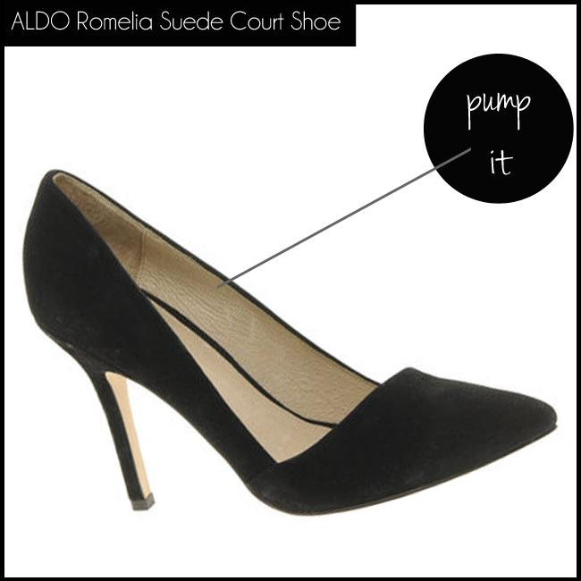 3 ALDO Romelia Suede Court Shoe