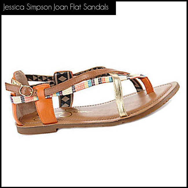 3 Jessica Simpson Joan Flat Sandals