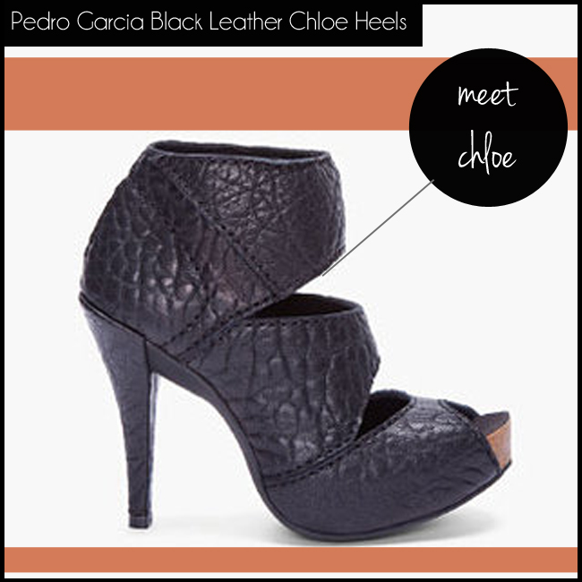 3 Pedro Garcia Black Leather Chloe Heels