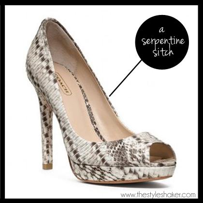 shop the Selma Python Peep Toe Heel