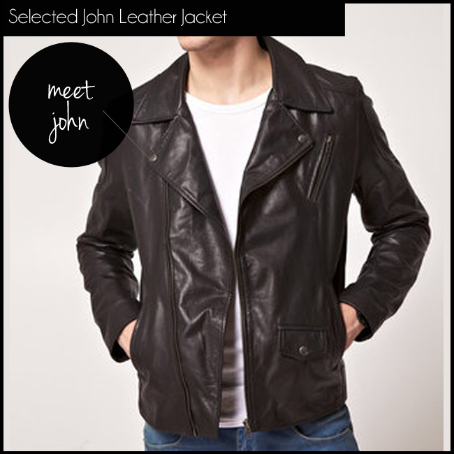 3 Selected John Leather Jacket