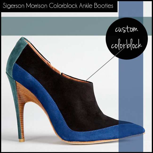 3 Sigerson Morrison Colorblock Ankle Booties