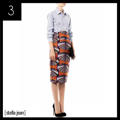 3 Stella Jean Dofi-print pencil skirt