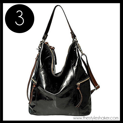 3 Tano Zip Top Hobo Bag