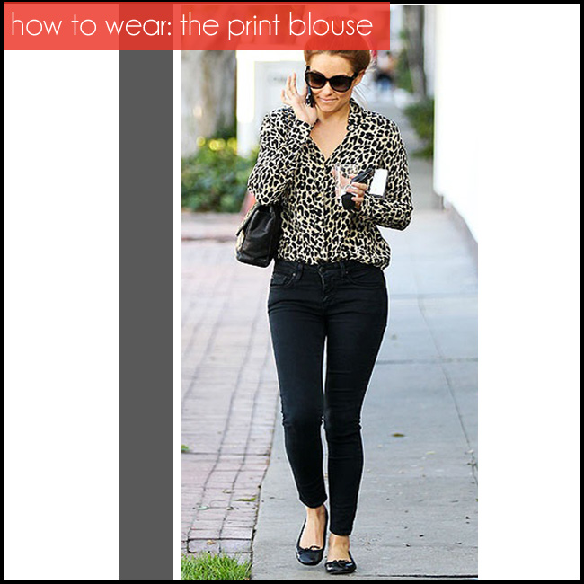 how to wear a print blouse