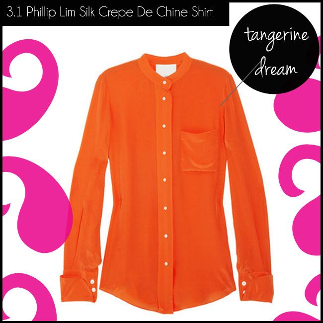 4 3.1 Phillip Lim Silk Crepe De Chine Shirt