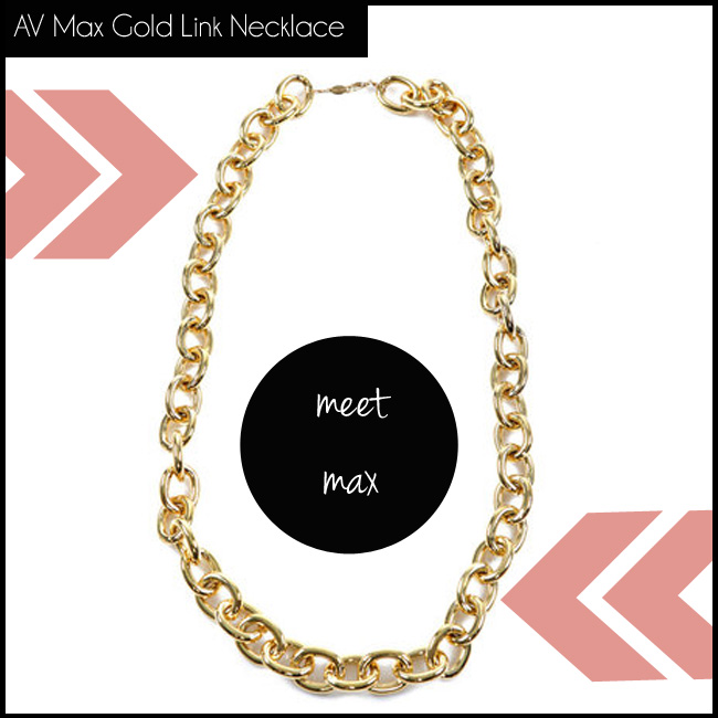 4 AV Max Gold Link Necklace