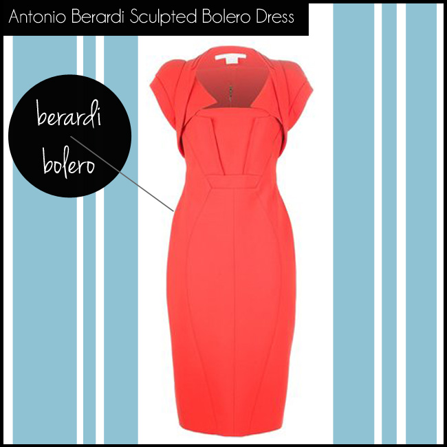 4 Antonio Berardi Sculpted Bolero Dress